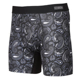 Battle Briefs Black Paisley
