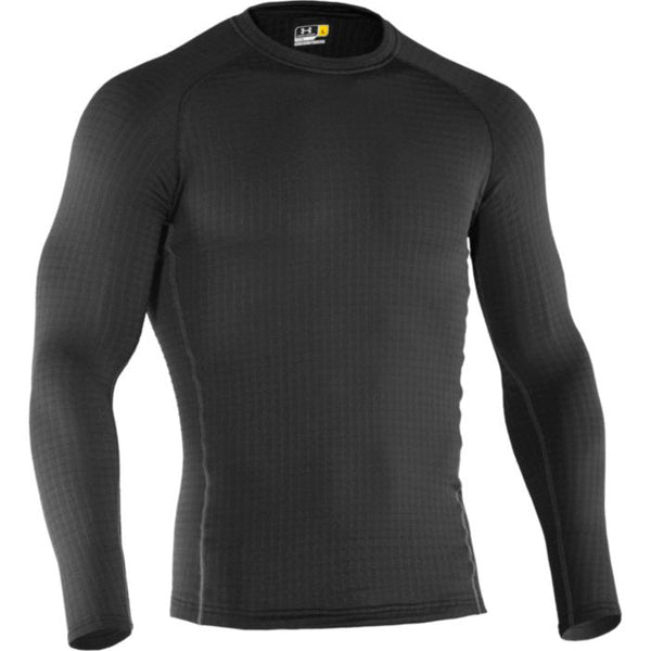 UA Base 4.0 Crew Black Under Armour Base Layer Top - 1