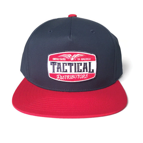 TD Beer RW&B Pinch Front Snapback Red/Navy Hat