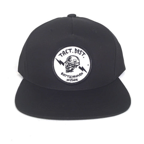 Battle Proven Pinch Front Snapback Hat Black