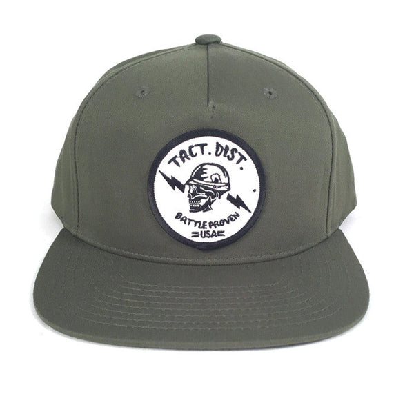 TD Battle Proven Pinch Front Snapback Hat Army Olive