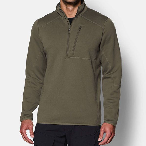 UA TAC Cold Gear 1/4 Zip OD Green LARGE ONLY