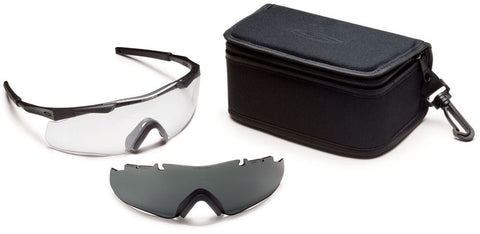 Smith Aegis Arc Eyeshields, Retail Kit, Black Frame/Clear Smith Optics Shooting Glasses