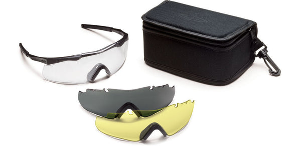 Smith Aegis Arc Eyeshields, Deluxe Kit, Black Frame/Clear Lens Smith Optics Shooting Glasses