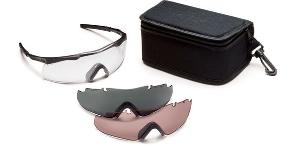 Smith Aegis Arc Eyeshields, Range Kit, Black Frame/Clear Smith Optics Shooting Glasses