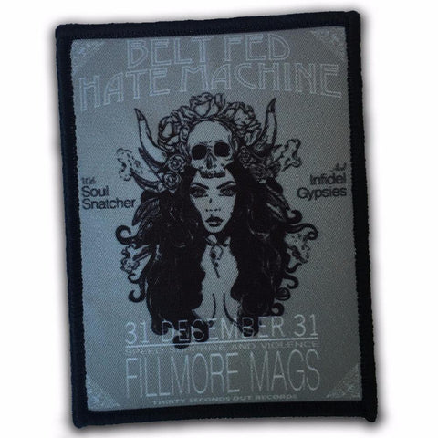 30 Seconds Out Belt Fed Hate Machine Velcro Patch