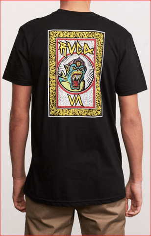 RVCA Redondo Monster Black Short Sleeve Tee