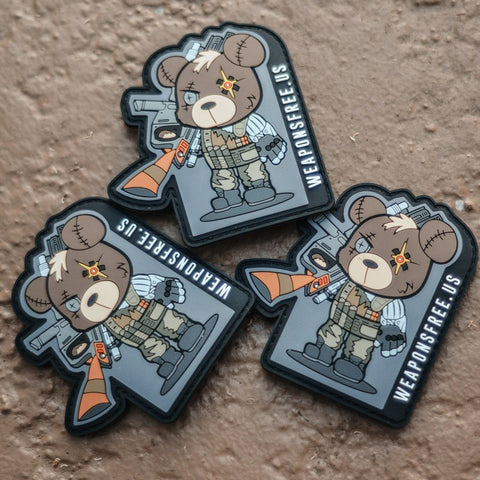 Weapons Free Cable Tactical Teddy Morale Patch