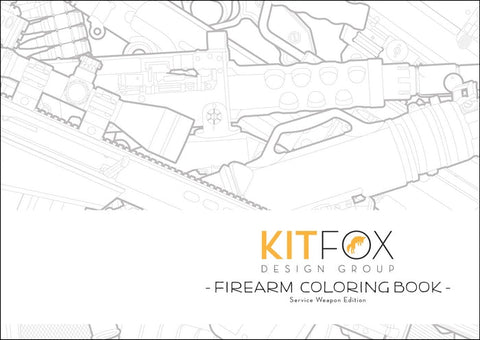 Kitfox Firearm Coloring Book: Service Weapon Edition