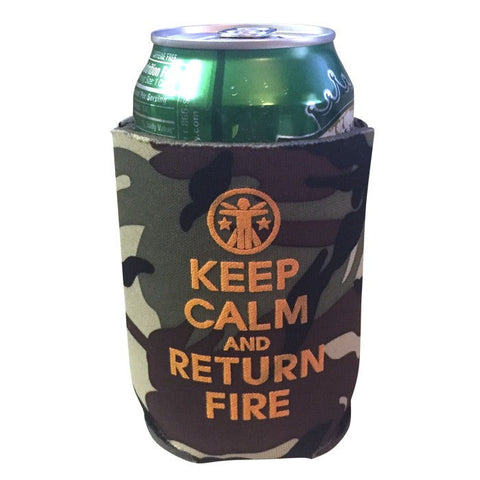 Keep Calm & Return Fire™ Koozie