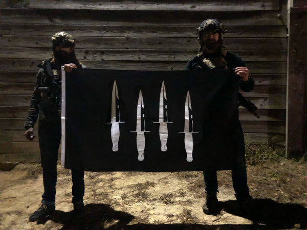Black Triangle Daggers Up Flag
