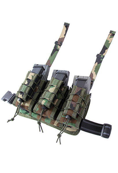 HSGI Double Decker Leg Rig Woodland High Speed Gear Ammunition Cases & Holders - 1