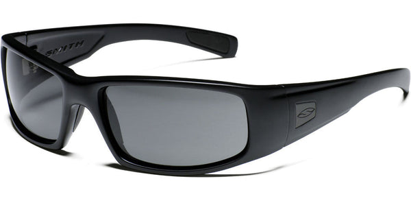 Smith Hideout Tactical Sunglasses, Black Frame/Polarized Grey Smith Optics Sunglasses