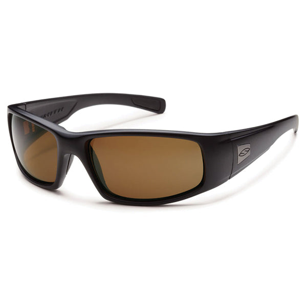 Smith Hideout Tactical Sunglasses, Black Frame/Polarized Brown Smith Optics Sunglasses
