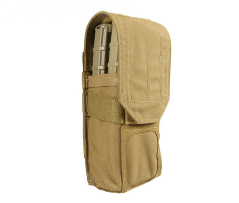 BFG HELIUM WHISPER DOUBLE M4 MAGAZINE POUCH WITH FLAP Blue Force Gear Ammunition Cases & Holders