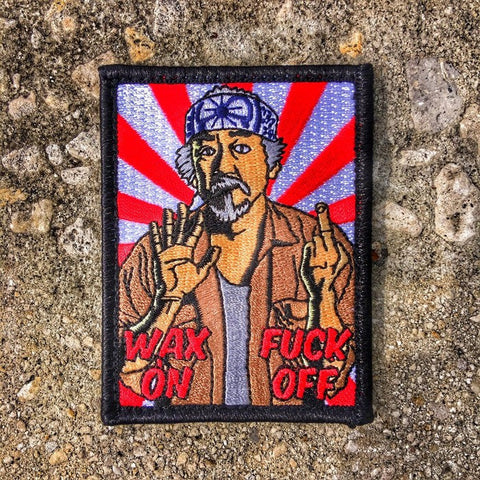 Dump Box Mr Miyagi Wax On Morale Patch