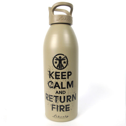 Keep Calm and Return Fire ™ Liberty Bottle 2.0 Keep Calm Water Bottle - 2