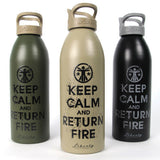 Keep Calm and Return Fire ™ Liberty Bottle 2.0 Keep Calm Water Bottle - 1