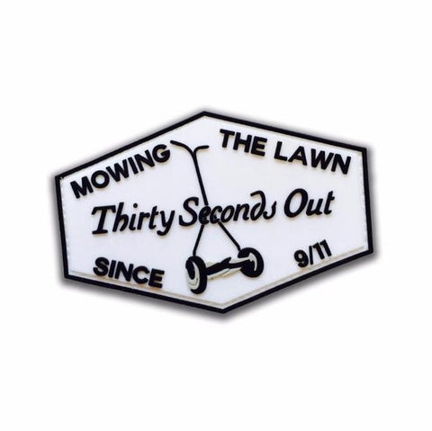 30 Seconds Out Mowing The Lawn Morale Patch