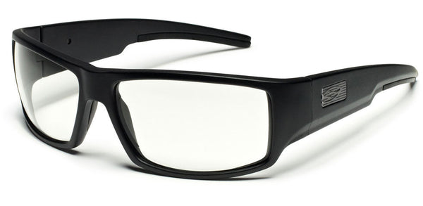 Smith Lockwood Tactical Sunglasses, Black Frame/Clear Lens Smith Optics Shooting Glasses