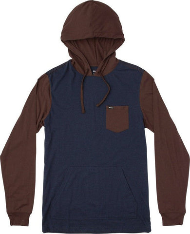RVCA Set Up Long Sleeve Hooded Knit Shirt