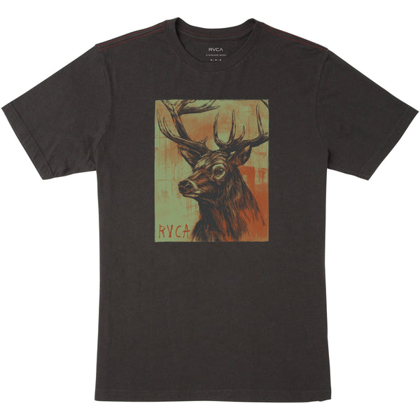 RVCA Highland Stag Tee - SMALL BLACK ONLY! NO RETURNS