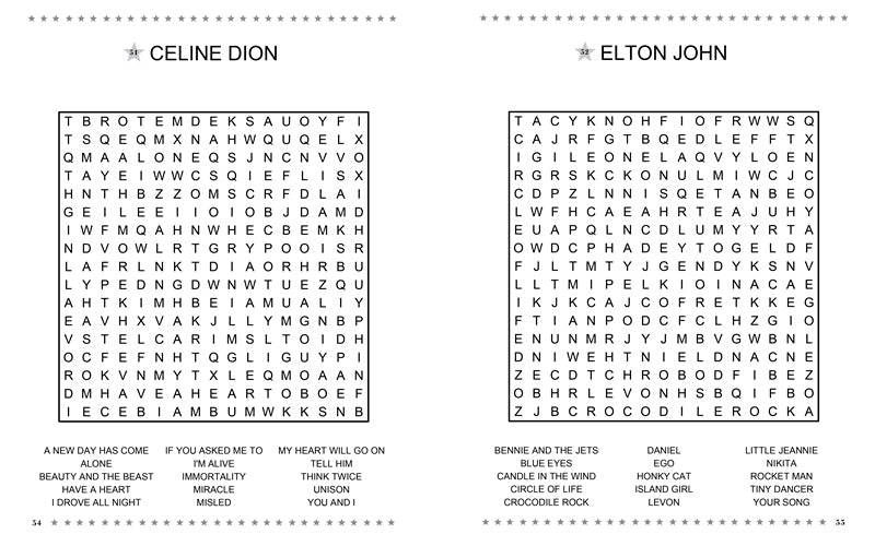 entertainment word search � imagine publishing