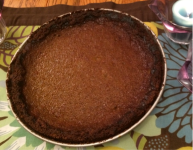 """Pumpkin"" pie with Blue Hubbard squash—yum!"