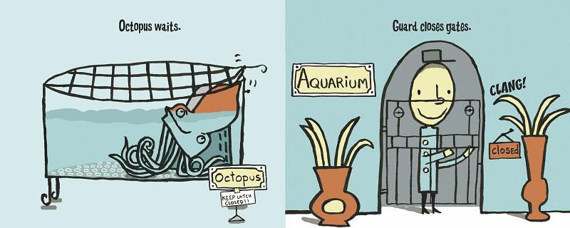 Image result for Octopus Escapes by Nathaniel Lachenmeyer