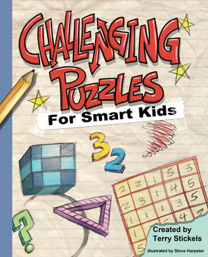 Challenging Puzzles for Smart Kids book cover