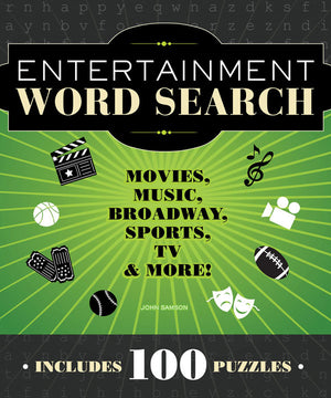 Entertainment Word Search book cover image