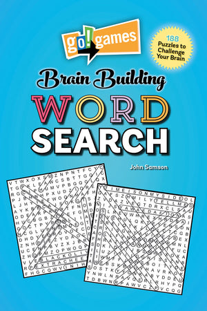 go!games Brain Building Word Search book cover image