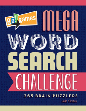 go!games Mega Word Search Challenge book cover image