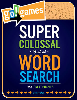 go!games Super Colossal Book of Word Search book cover image