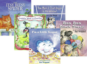 Iza Trapani's Paperback Nursery Rhyme Collection book covers