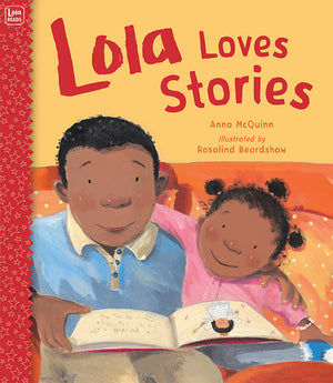 Lola Loves Stories book cover