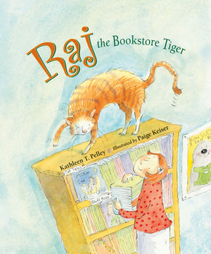 Raj the Bookstore Tiger book cover
