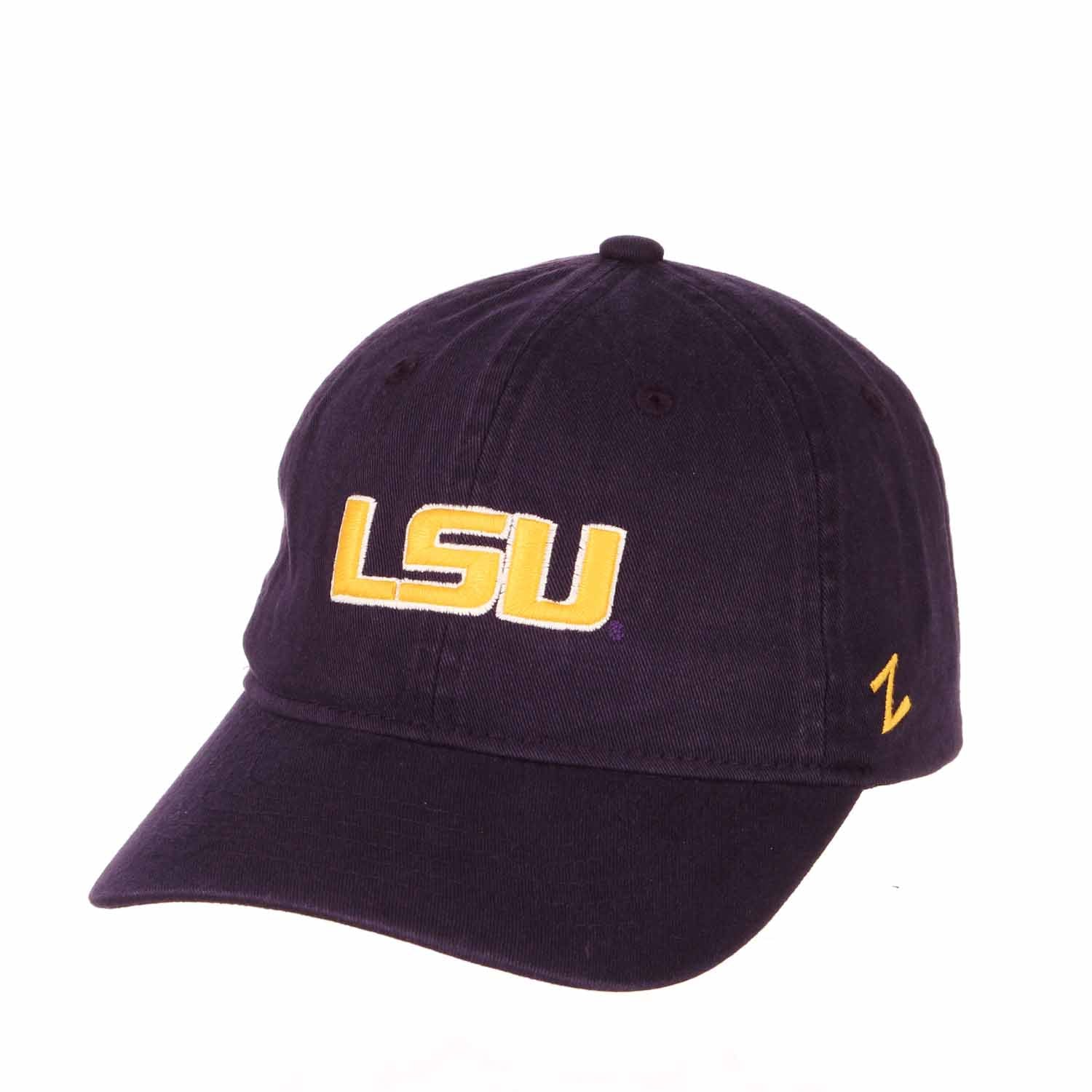 Adult NCAA All-American Relaxed Adjustable Hat (LSU Tigers - Purple)