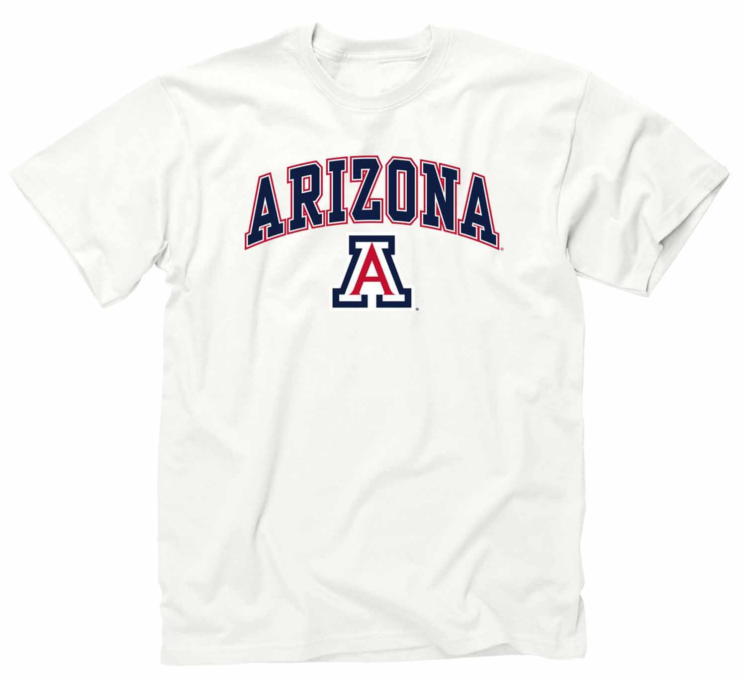 NCAA Adult Arch & Logo Soft Style Gameday T-Shirt (Arizona Wildcats - White)