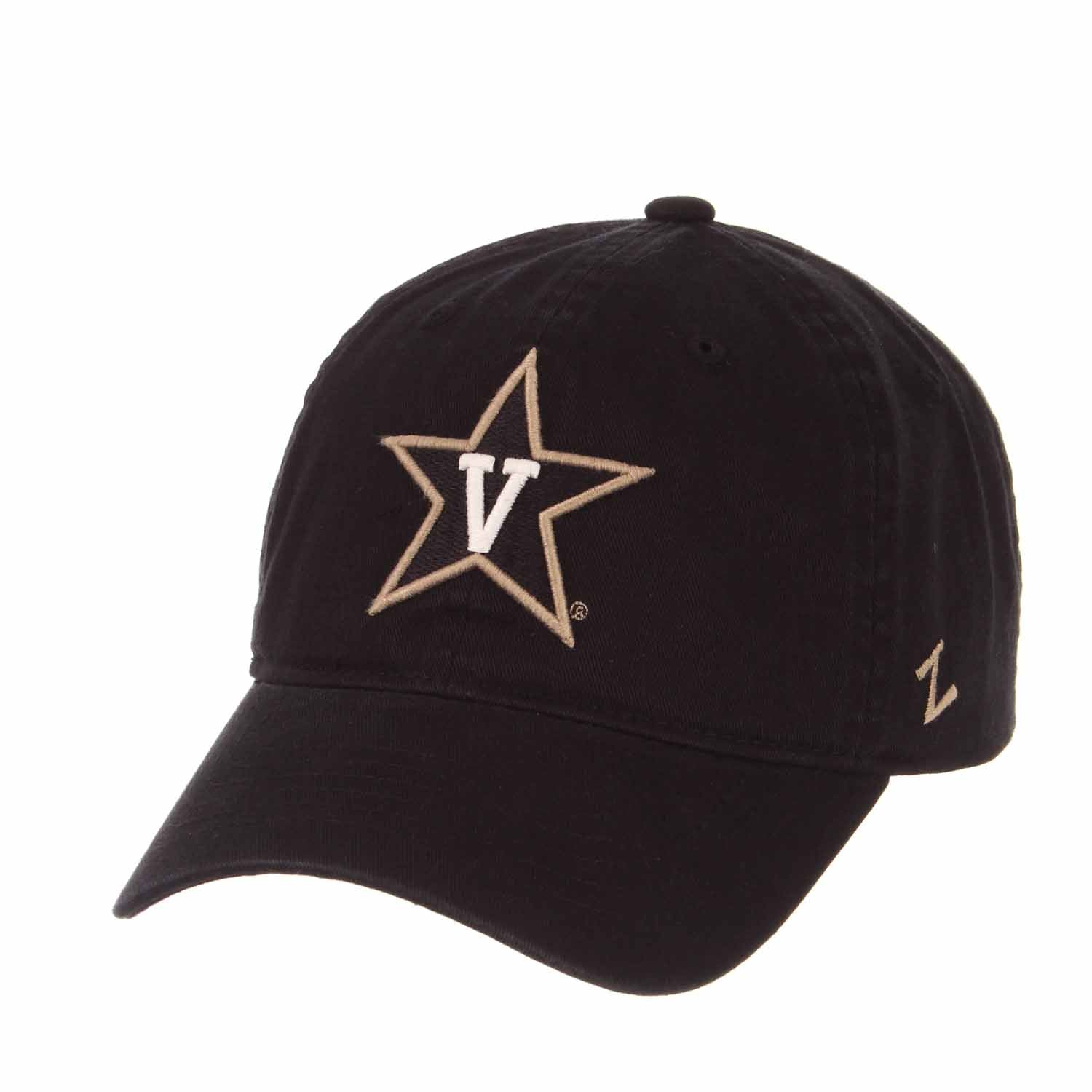 Adult NCAA All-American Relaxed Adjustable Hat (Vanderbilt Commodores - Black)