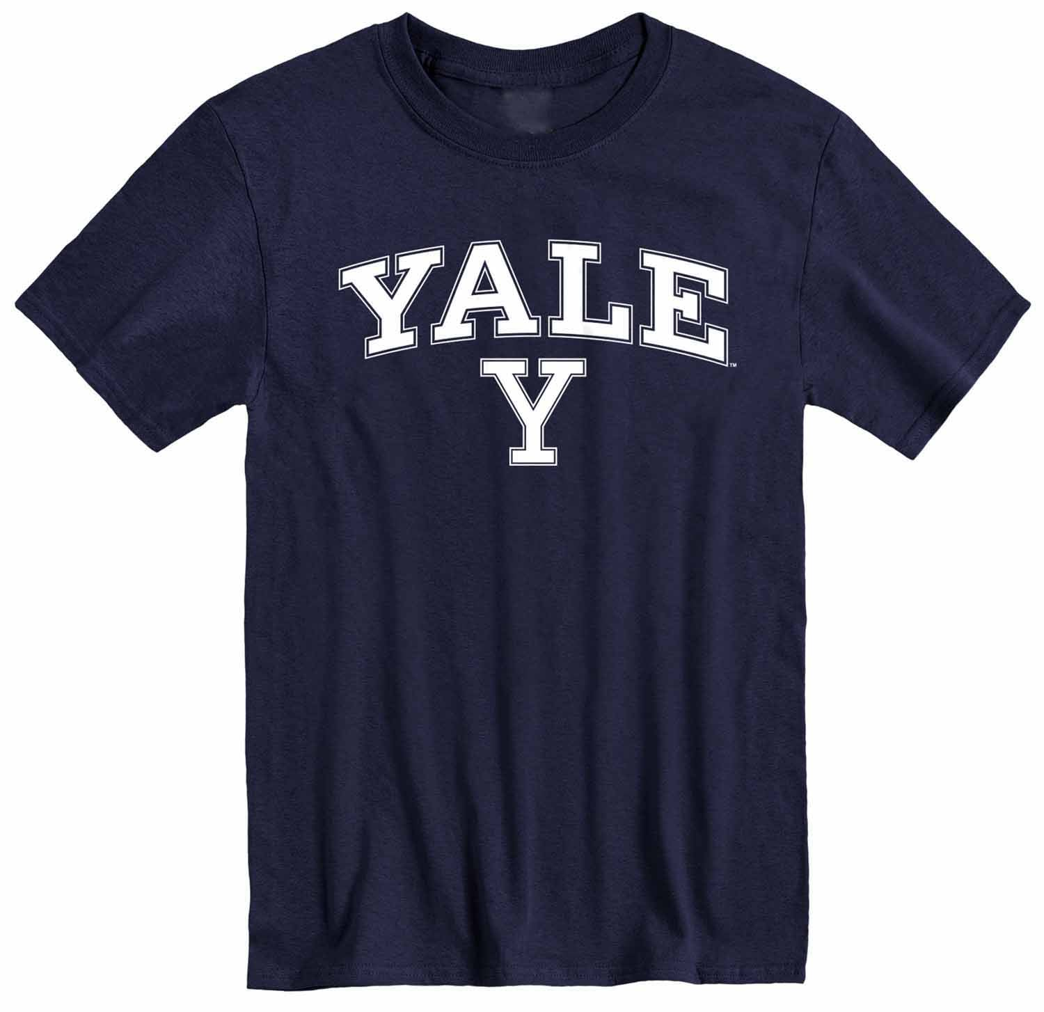 NCAA Adult Arch & Logo Soft Style Gameday T-Shirt (Yale Bulldogs - Navy)