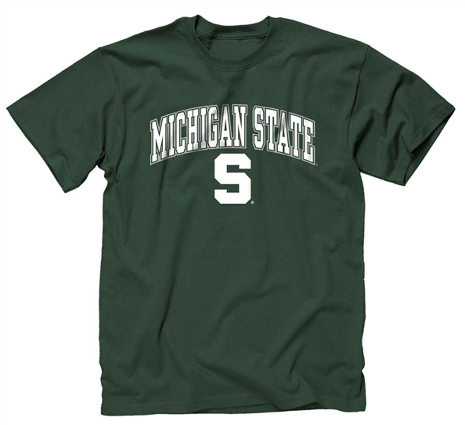 NCAA Adult Arch & Logo Soft Style Gameday T-Shirt (Michigan State Spartans - Green)