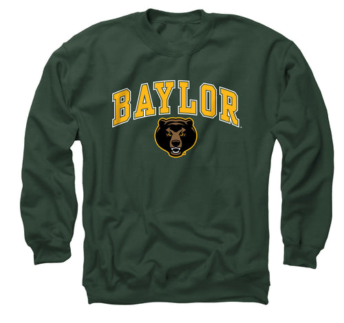 NCAA Adult Arch & Logo Gameday Crewneck Sweatshirt (Baylor Bears - Team Color)