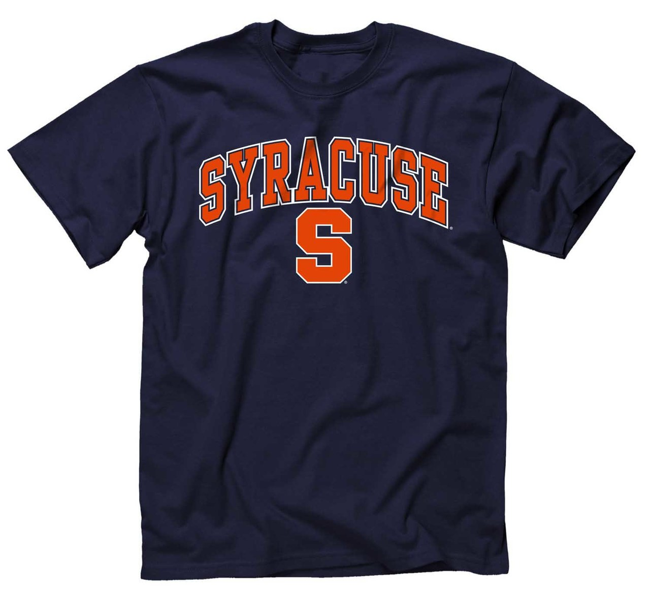 NCAA Adult Arch & Logo Soft Style Gameday T-Shirt (Syracuse Orange - Navy)
