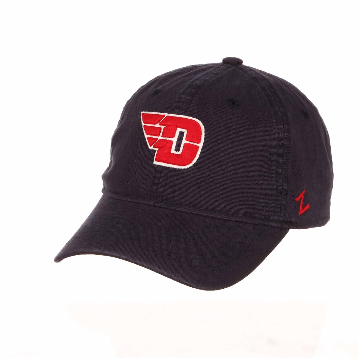 Adult NCAA All-American Relaxed Adjustable Hat (Dayton Flyers - Navy)