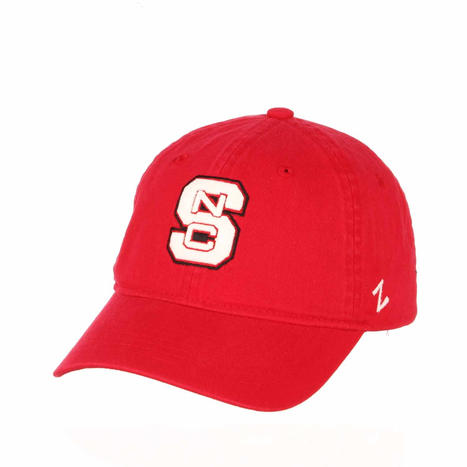 Adult NCAA All-American Relaxed Adjustable Hat (NC State Wolfpack - Red)