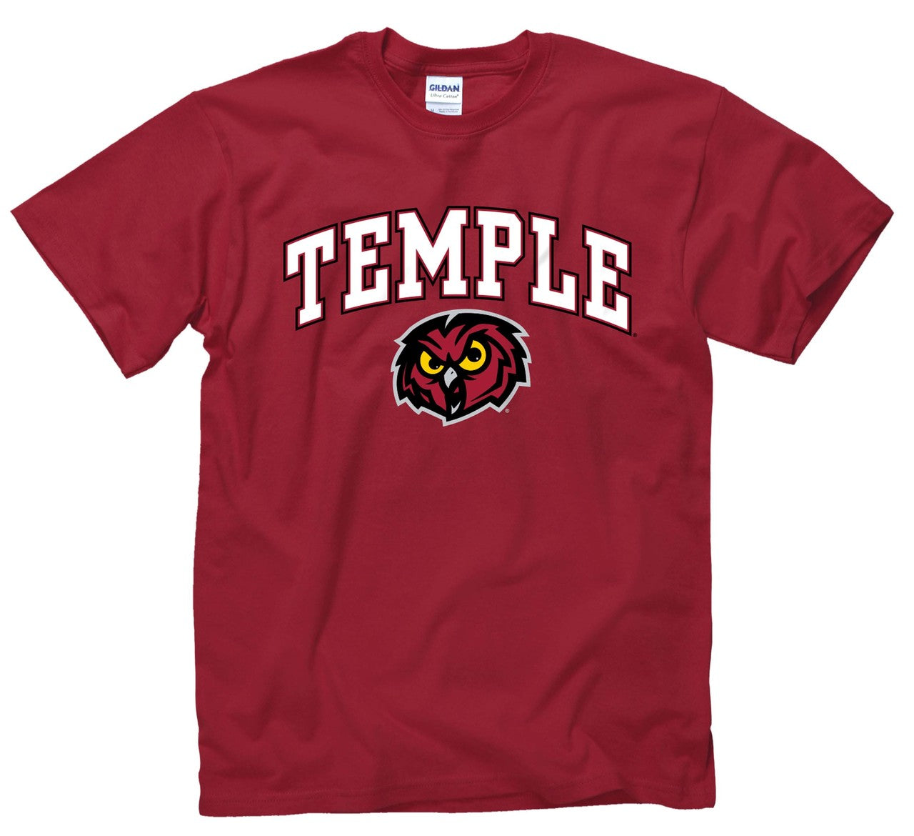 NCAA Adult Arch & Logo Soft Style Gameday T-Shirt (Temple Owls - Maroon)