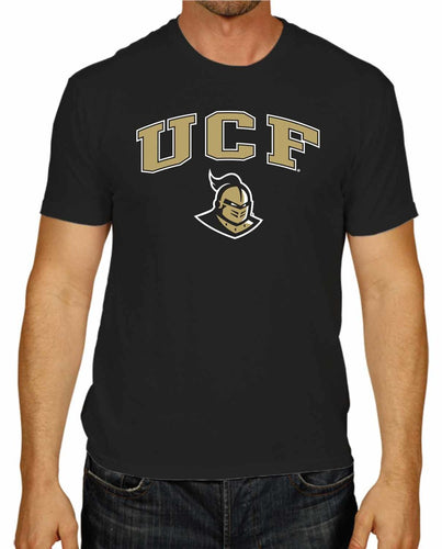 NCAA Adult Arch & Logo Soft Style Gameday T-Shirt (Central Florida Knights - Black)