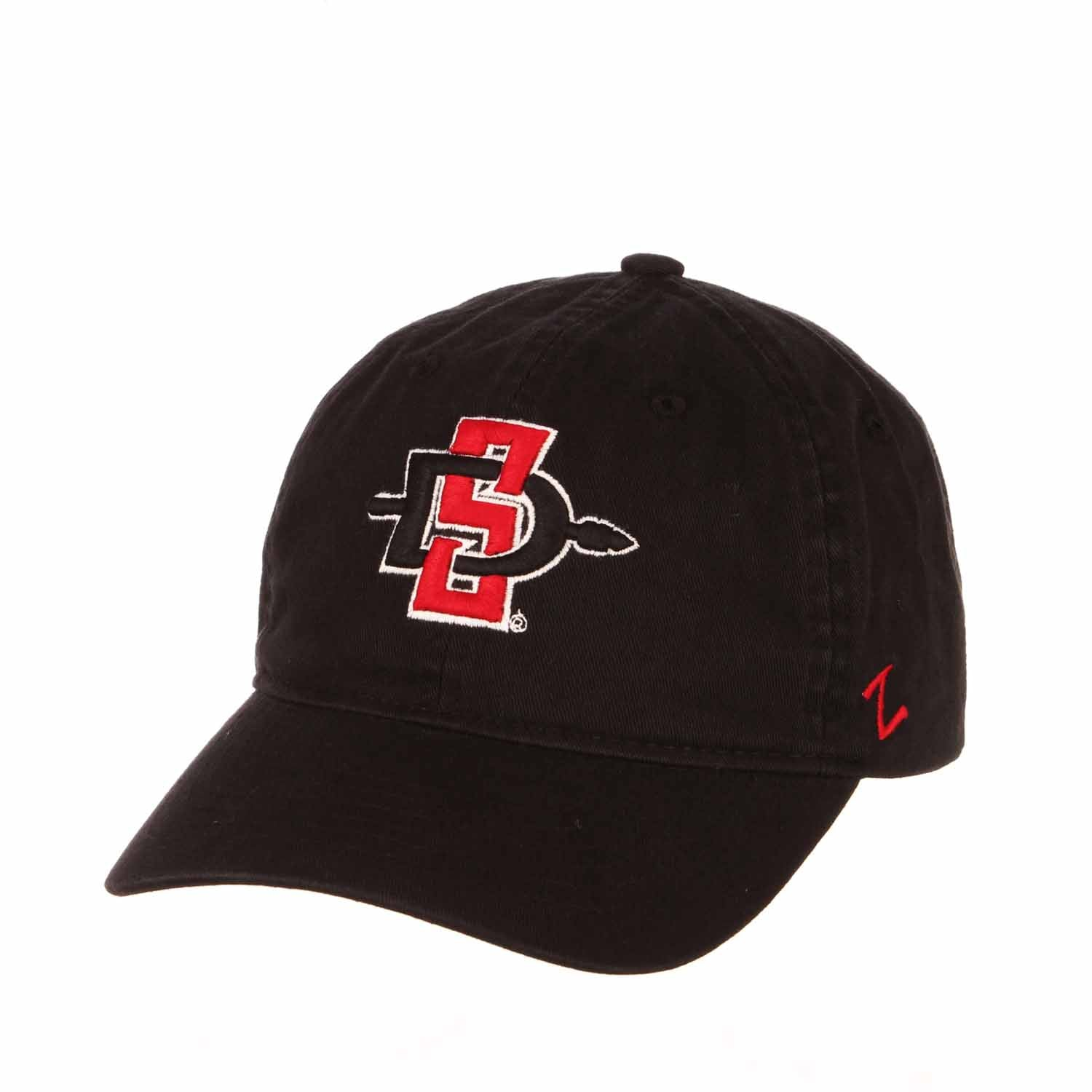 Adult NCAA All-American Relaxed Adjustable Hat (San Diego State Aztecs - Black)