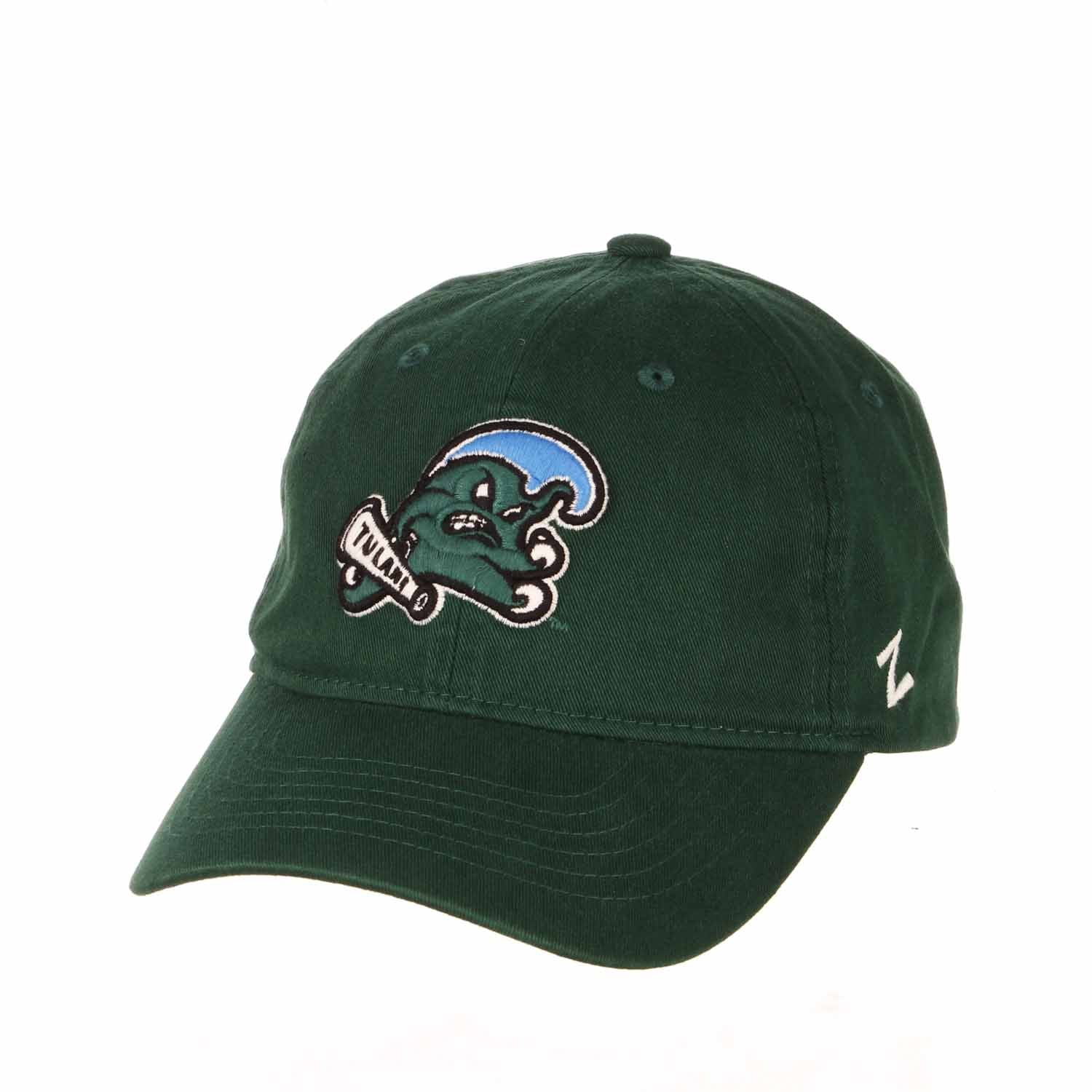Adult NCAA All-American Relaxed Adjustable Hat (Tulane Green Wave - Green)